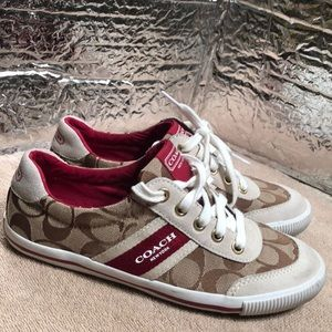 Coach CAMILA Brown Sneakers Tennis Shoes size 6.5